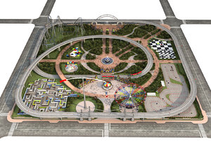 3D model amusement park