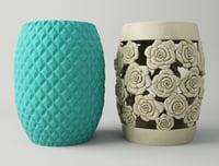 garden stools 3D model