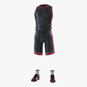 basketball player uniform 3D