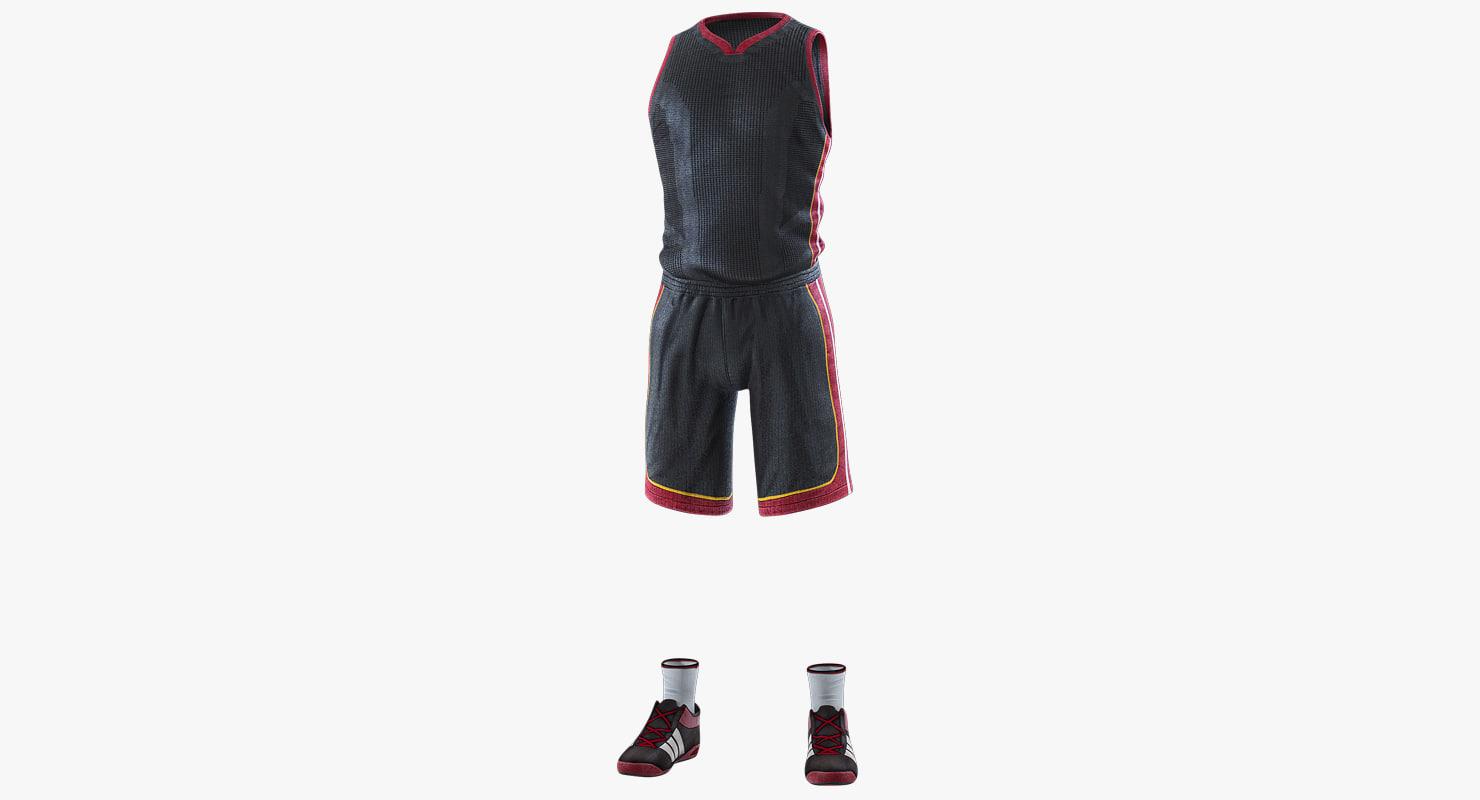 basketball player uniform 3D