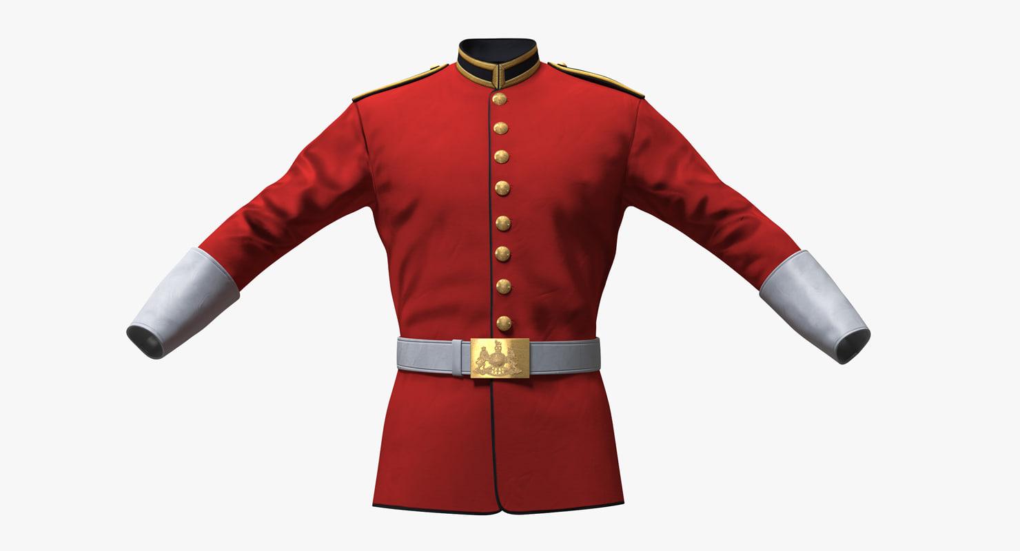 3D british cavalry life guard