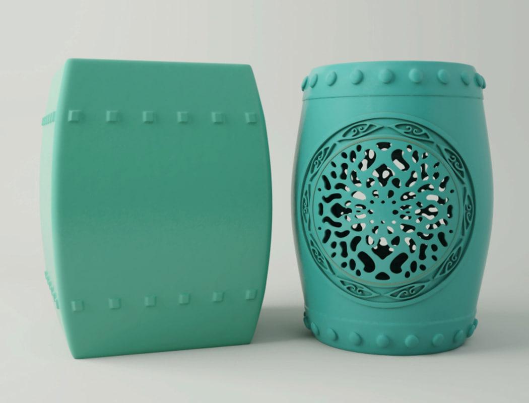 3D garden stools