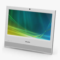 pc shuttle x50v2 white model