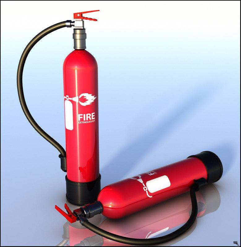 3D model extinguisher