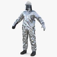 3D aluminized proximity suit