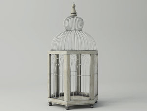 hexi decorative cage zara 3D model