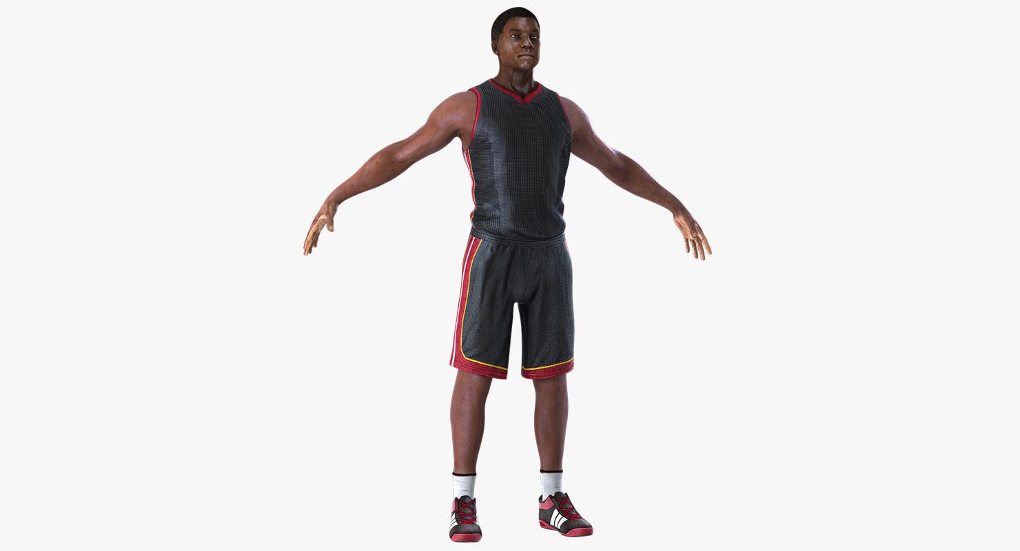 3D basketball player model