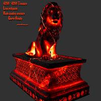 Lava_Lion_Statue