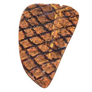 realistic grilled t-bone steak model