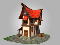 House Cartoon lowpoly