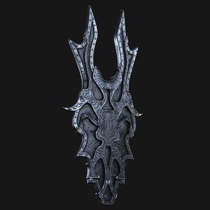 3D shield fantasy model
