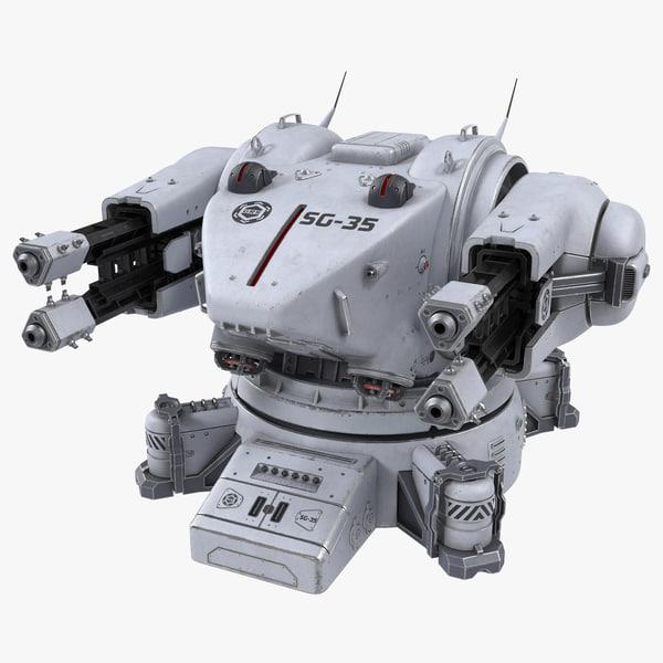 3D turret science fiction