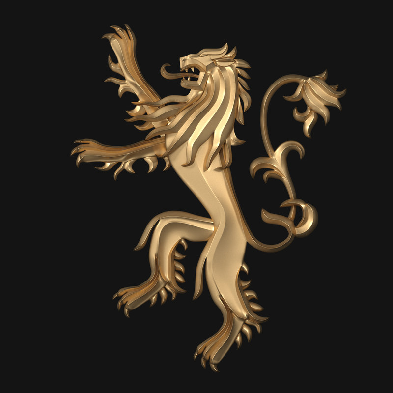 thrones - house lannister 3D