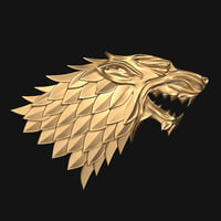 3D thrones - house stark