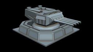 starship laser canon 3D model