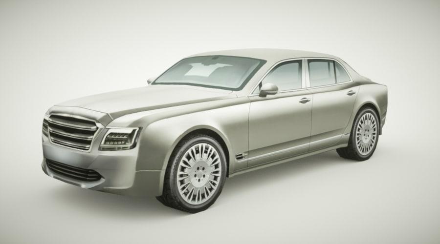generic sedan v17 3D model