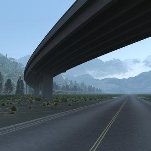 freeway 3D model