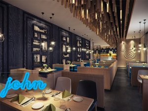 restaurant cafeteria 3D