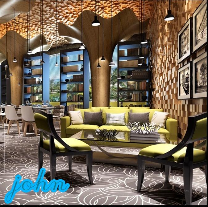 3D restaurant cafeteria
