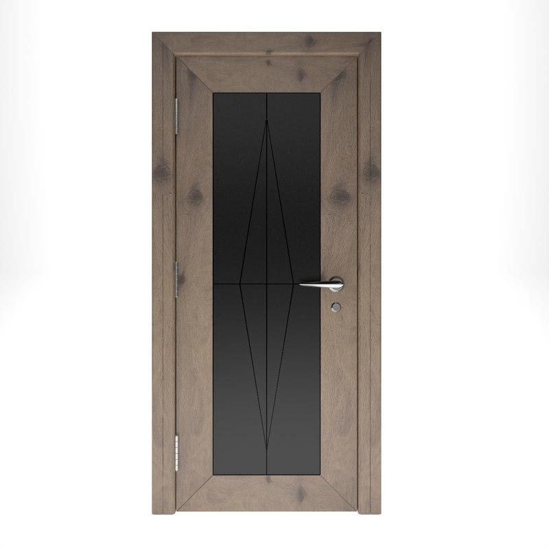 wooden door interior model