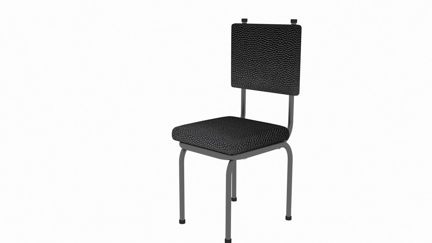 3D chair black