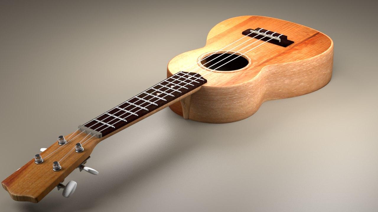 clasic ukulele 3D model