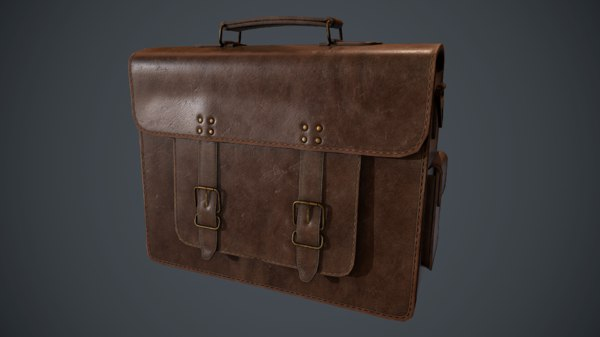 leather bag pbr 3D