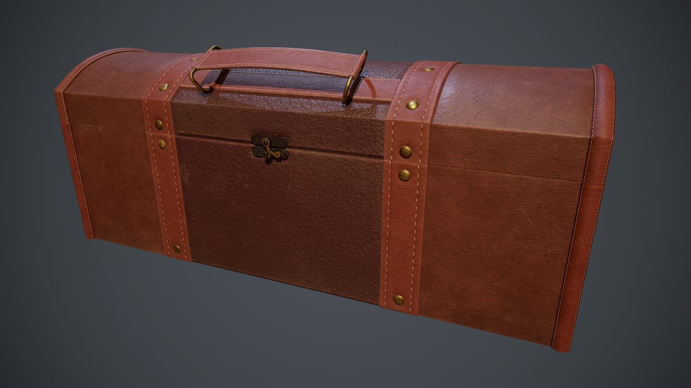 pbr leather chest 3D model