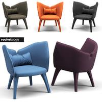 chair rochebobois armchair 3D model