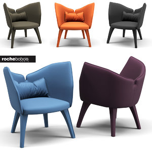 chair rochebobois armchair 3D model