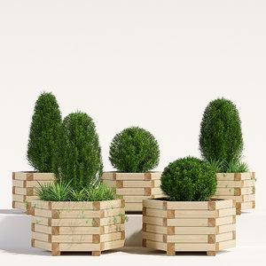 3D hexagonal planter model