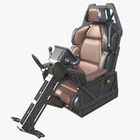 sci-fi cockpit 3D