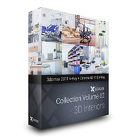3D Interiors  CGAxis Collection Volume 2