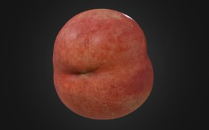 3D 8k nectarine fruits model
