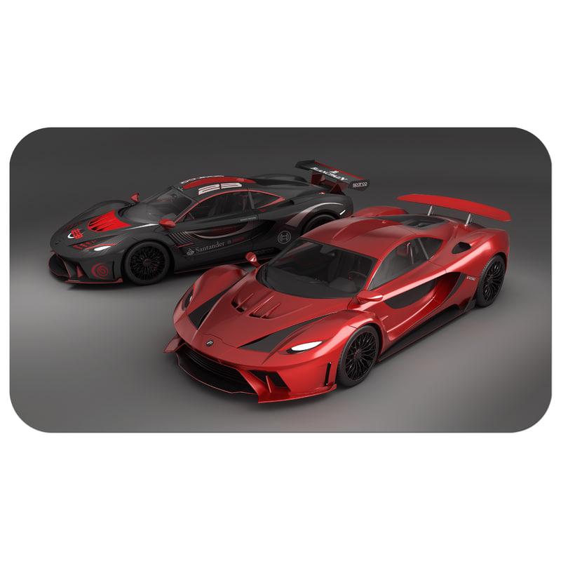 3D super car vehicle poison
