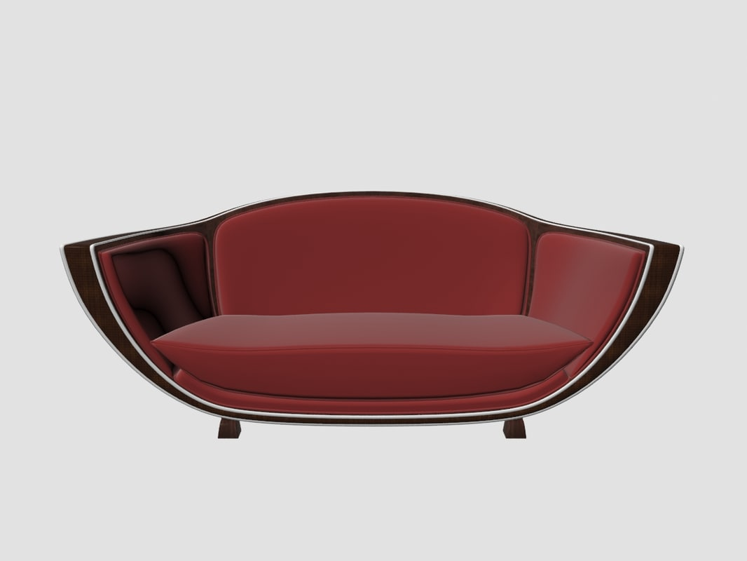 marcel coard sofa art deco 3D model
