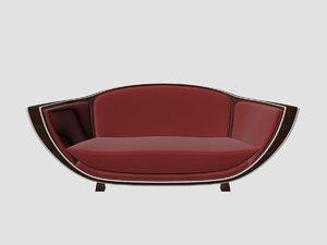 marcel coard sofa art deco 3D model
