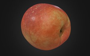8k nectarine fruits 3D model