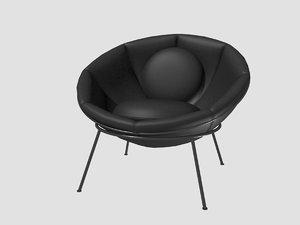 3D bowl chair lina bo model