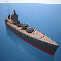3D fantasy battleship - model