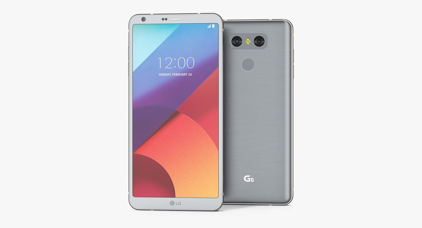 lg g6 ice platinum 3D model