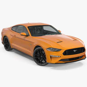 3D mustang 2018 rigged
