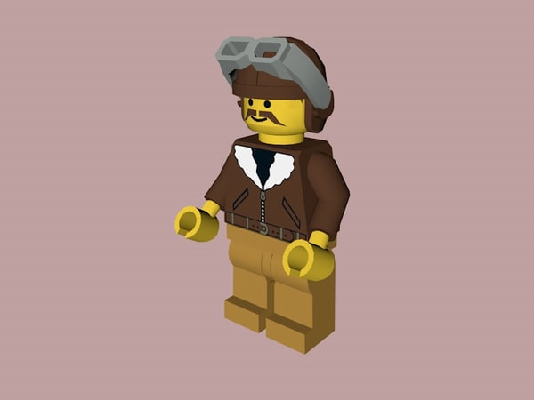 3D lego aviator