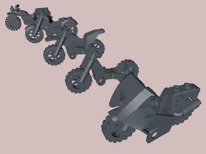 3D lego bikes model