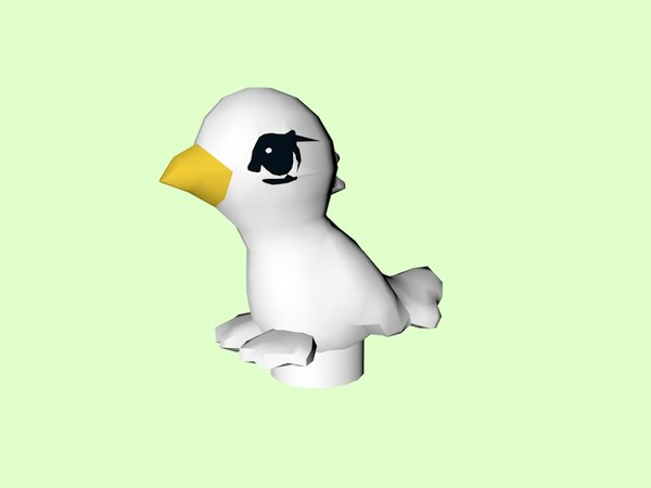 lego bird piece 3D model