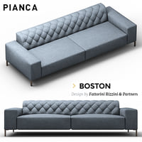 boston sofa 3D model