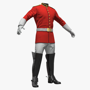 british cavalry life guard 3D model