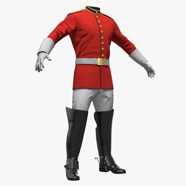 british cavalry life guard 3D model
