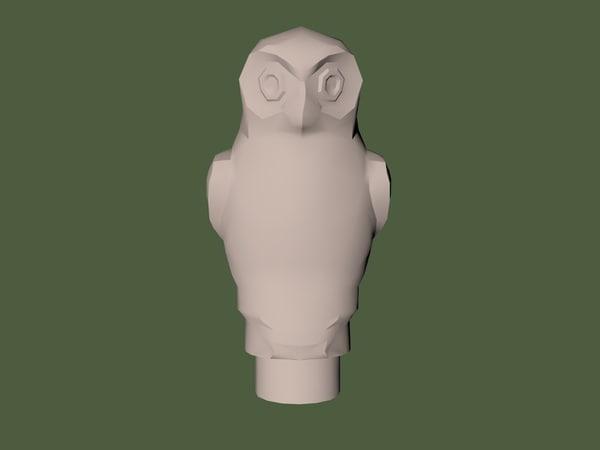 lego owl piece 3D