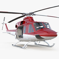bell 412 medical helicopter 3D model